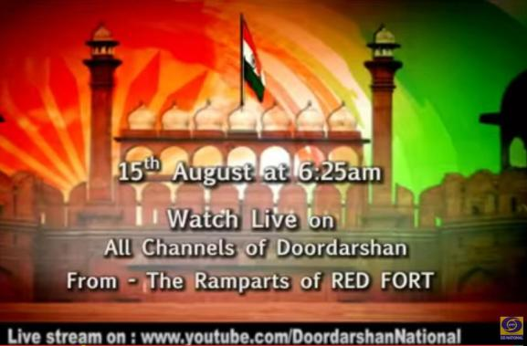 DD National Live Streaming India Independence Day Narendra Modi Speech 15th August 2015