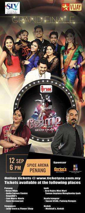 Jodi No 1 Season 8 Grand Finale Malaysia Ticket Online on September 12-2015