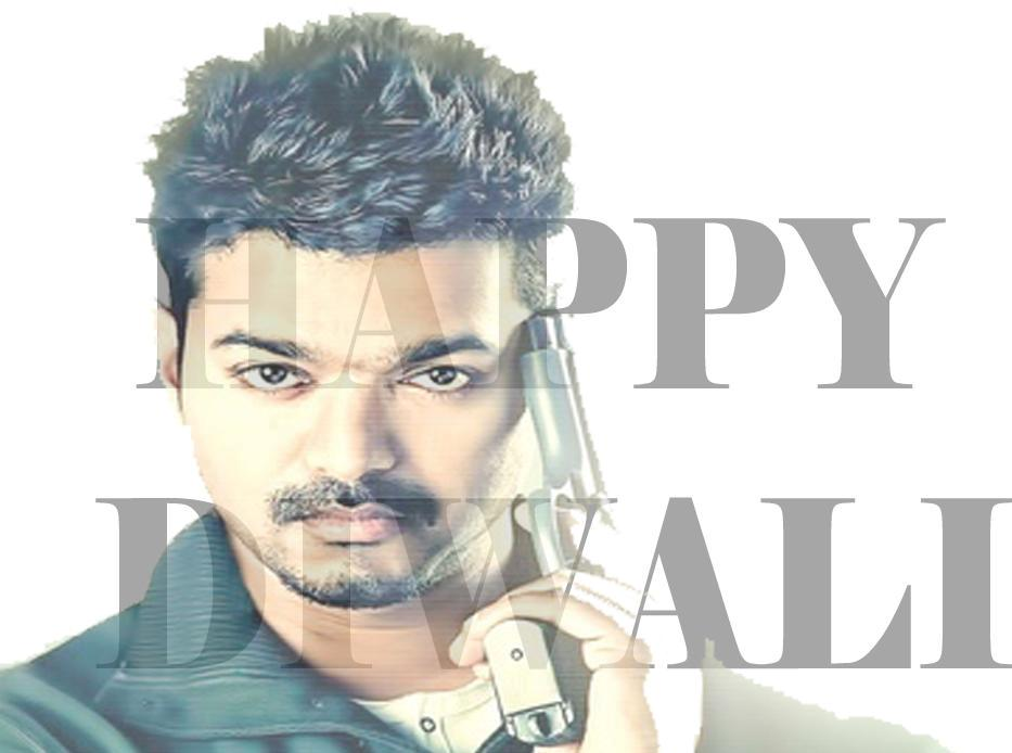 Actor Vijay Diwali Wishes Images 2015