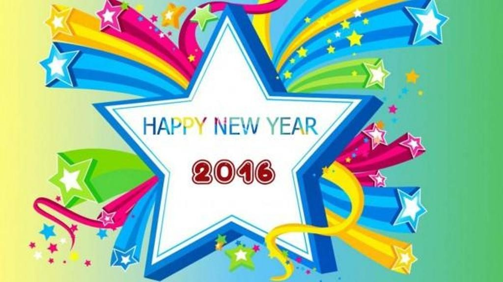 Happy New Year 2016 With Stars