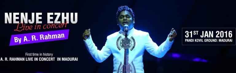 Nenje Ezhu Live in Concert by A. R. Rahman 2016 Madurai on Jan 31, 2016