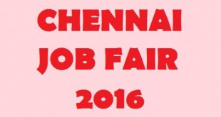 Chennai Job Fair 2016, TN Government jobs 2016