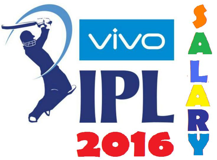 VIVO IPL 2016 Players Salary List Details