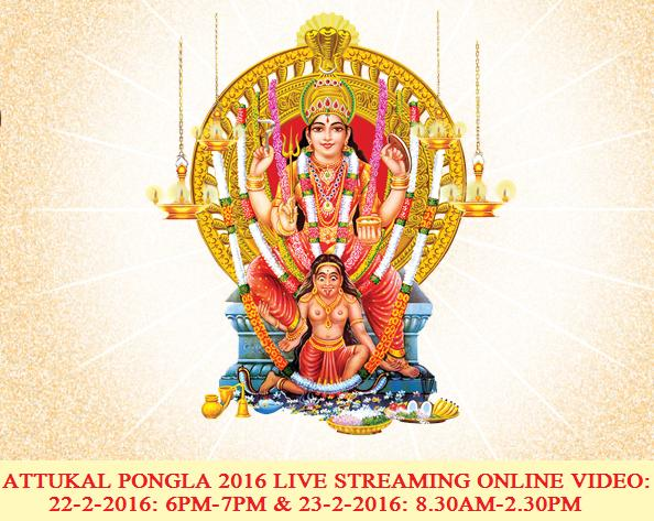 ATTUKAL PONGLA 2016 LIVE STREAMING ONLINE VIDEO 23-2-2016