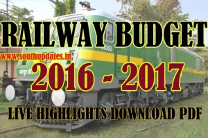 Railway Budget 2016-17 Live Rail Budget 2016-2017 Download Hindi English Pdf