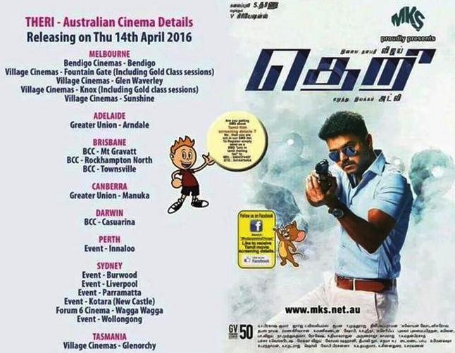 Theri Australia Theatre List
