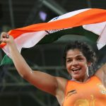 Wrestler Sakshi Malik Photo after winning Rio Olympics 2016 bronze medal